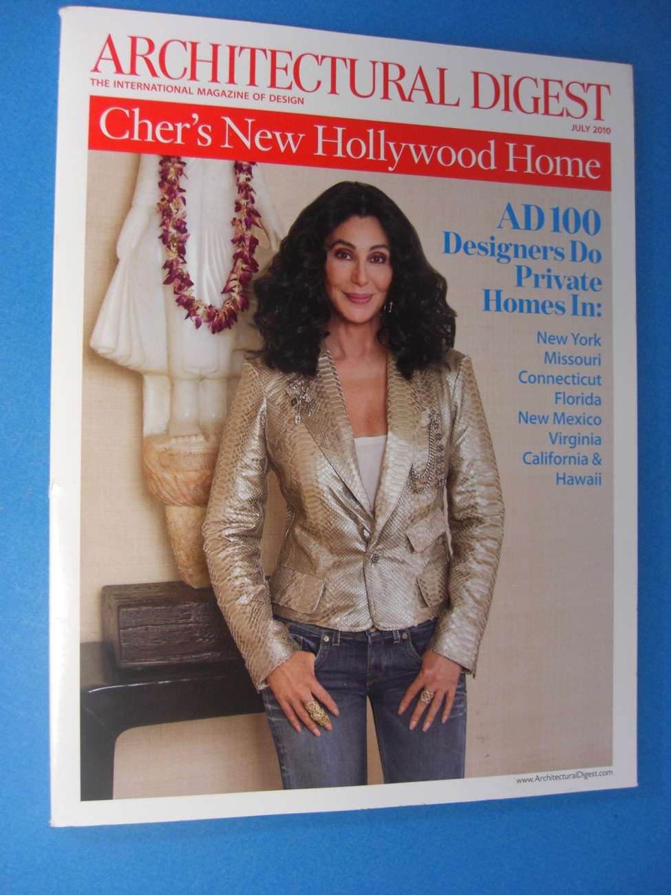 Architectural Digest July 2010 Cher 39 S New Hollywood Home Magazine Back Issues