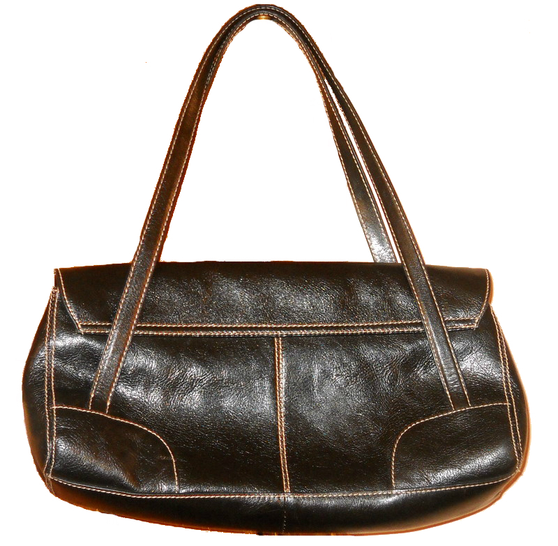 satchel handbag purse franco sarto black faux leather
