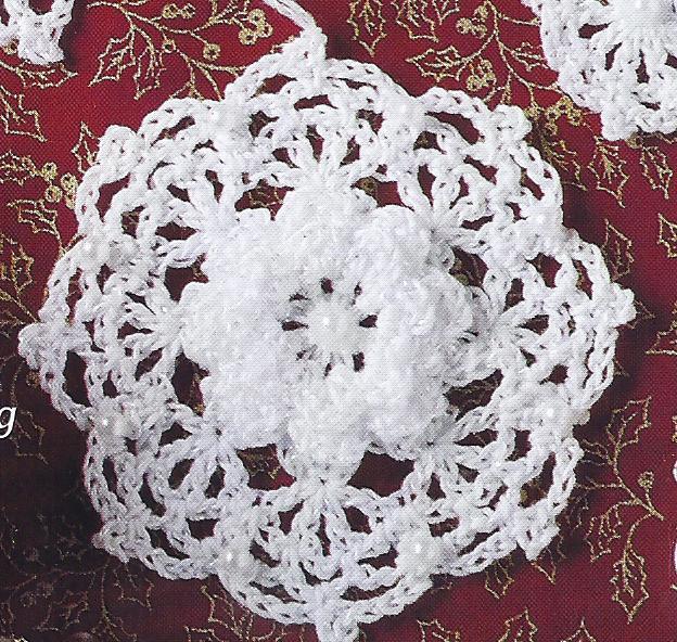 RARE~Beaded Snowflakes Thread Crochet Pattern~VHTF - Holiday