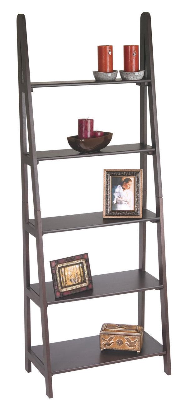 wood ladder bookcase hambledon shelf ladder small oak garden