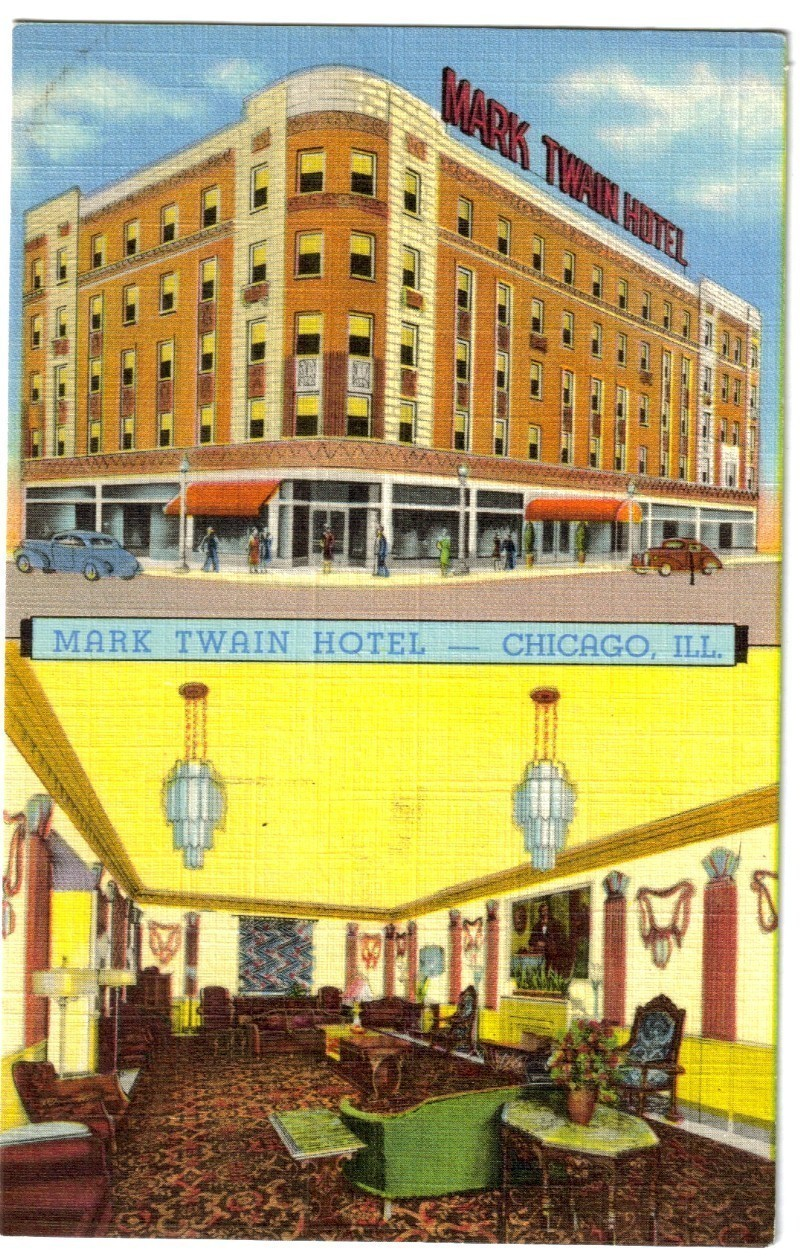 Mark twain hotel chicago ill interior exterior views for Hotels in chicago under 100