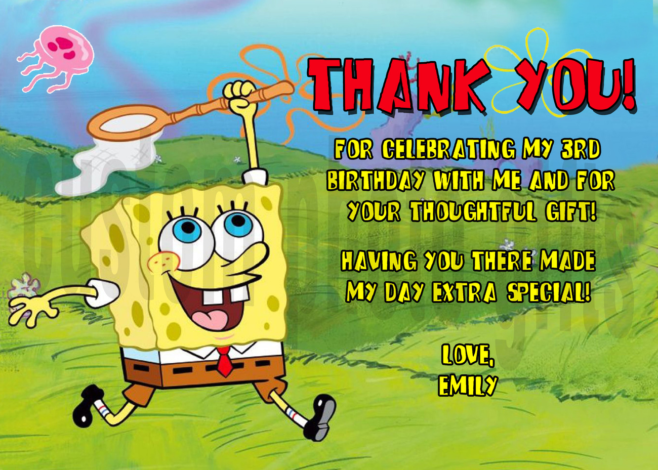 Personalized Spongebob Birthday Invitations is awesome invitations template