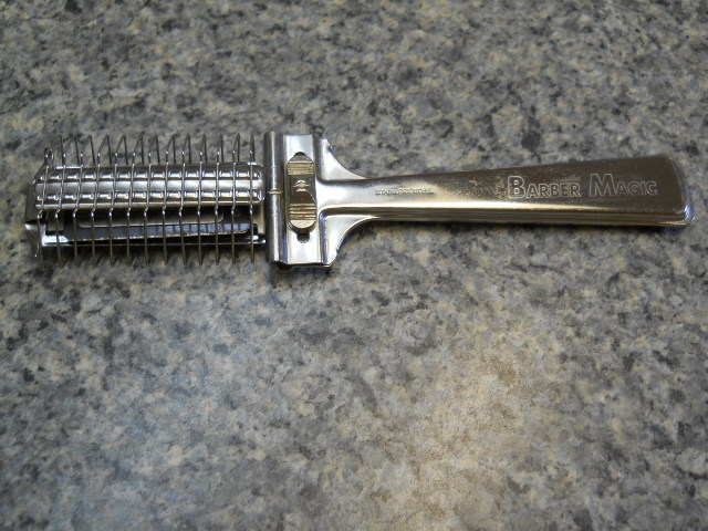 Hair Grooming Razor Tool Comb Barber Magic Vintage Stainless