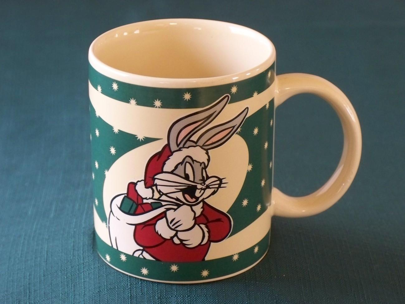 Bugs Bunny Christmas Santa Coffee Mug 1994 Very Good