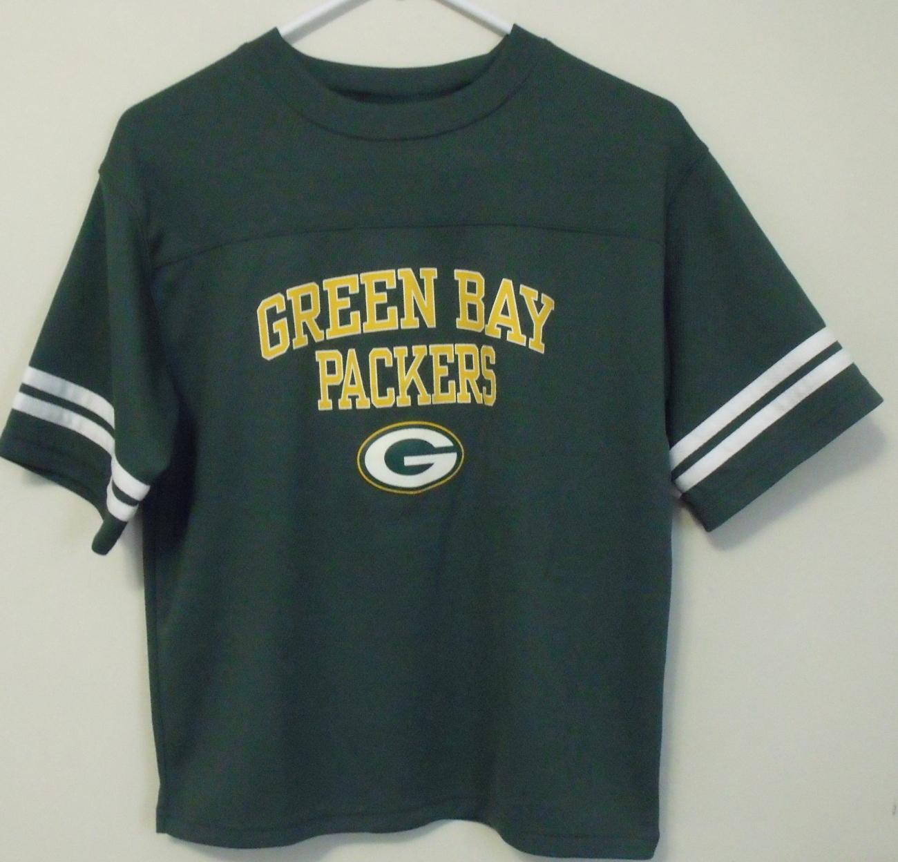 Boys Nfl Team Apparel Green Bay Packers Green Gold Short