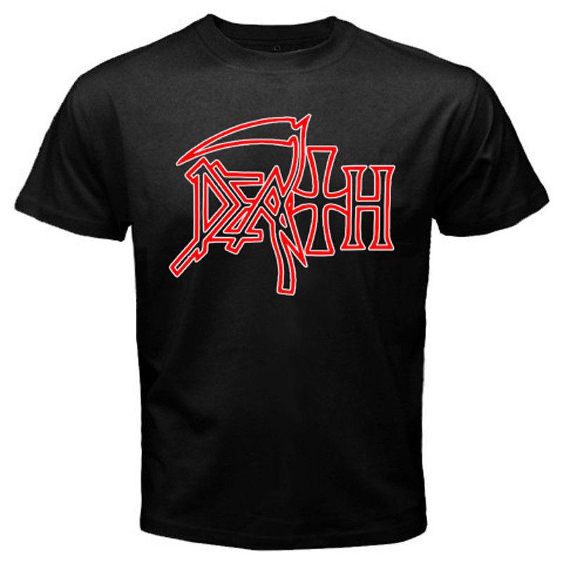 death heavy metal rock band logo mens black t shirt size