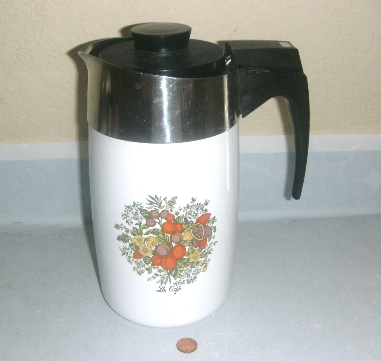 Vintage Corning Coffee 10 Cup Electric Percolator E-1210-8