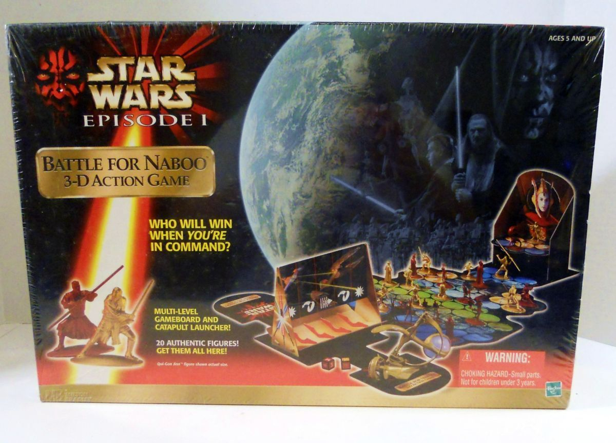 Image 4 of Star Wars Battle for Naboo 3-D action Hasbro unopened game
