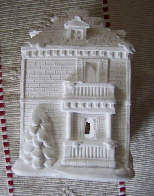 Plaster christmas village houses to paint elhouz