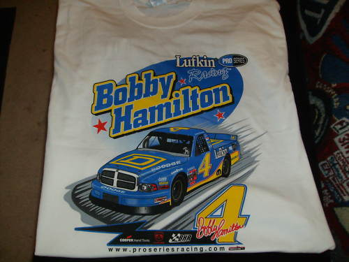 Bobby hamilton 4 square d lufkin xl t shirt nwot racing for T shirt printing in lufkin tx