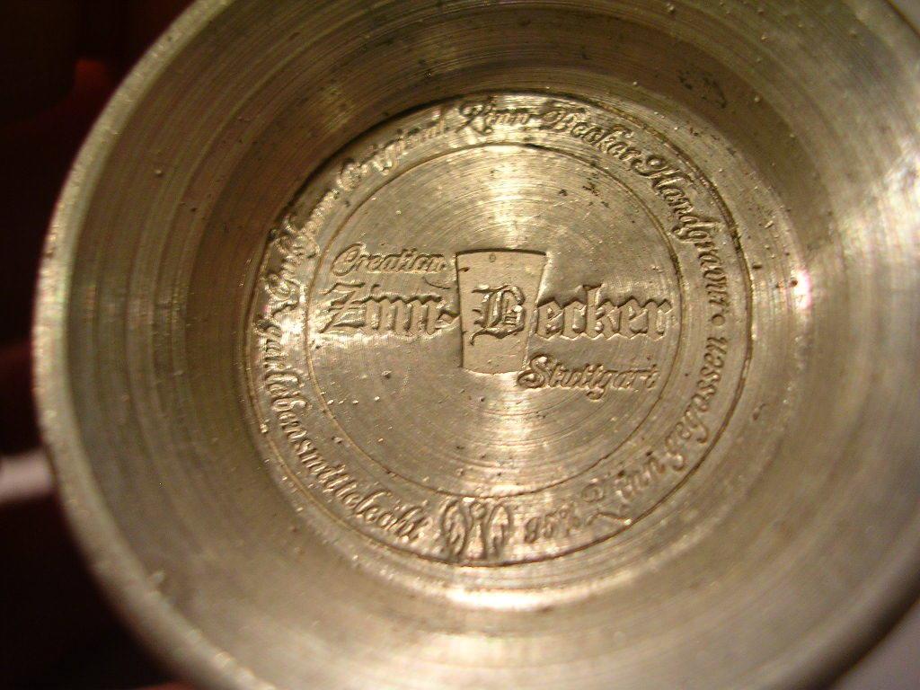 Zinn becker stuttgart koln pewter cup germany shot glasses for Becker payment plan