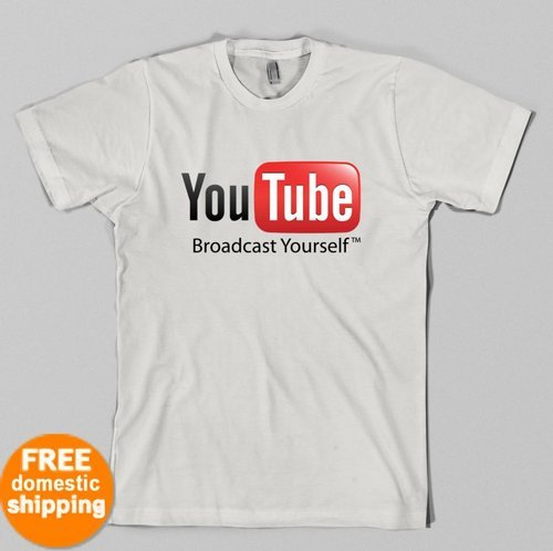 YouTube Broadcast Yourself T-shirt Google video music Fan Youth & Adult Shirts
