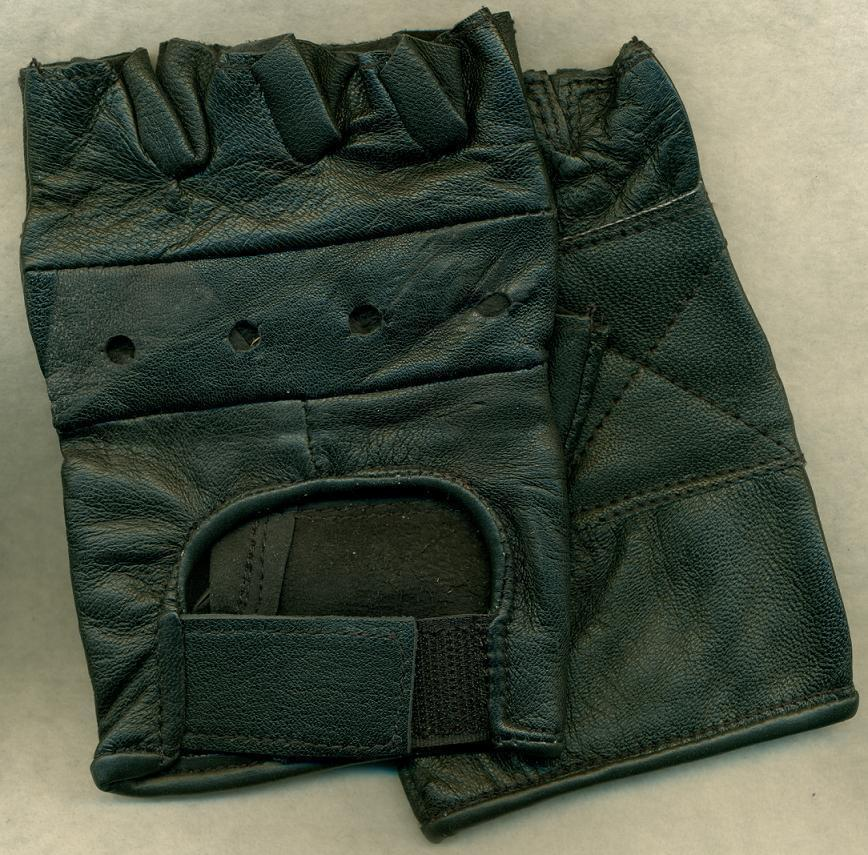 Black Leather Sports Gloves