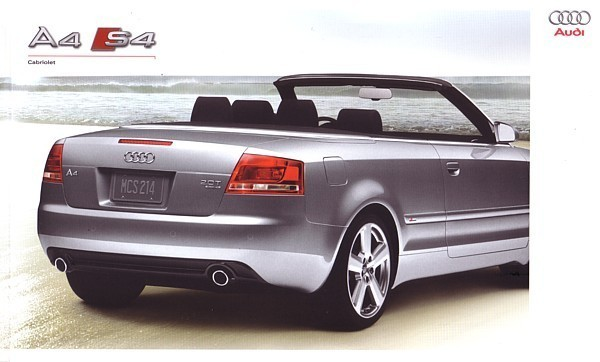 2009 audi a4 s4 cabriolet brochure catalog us 09 2 0t 3 2. Black Bedroom Furniture Sets. Home Design Ideas