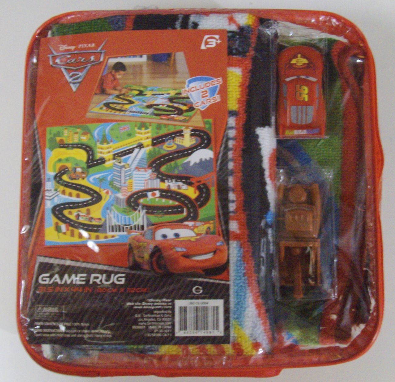 Disney Pixar Cars 2 Game Rug With Lightning McQueen And