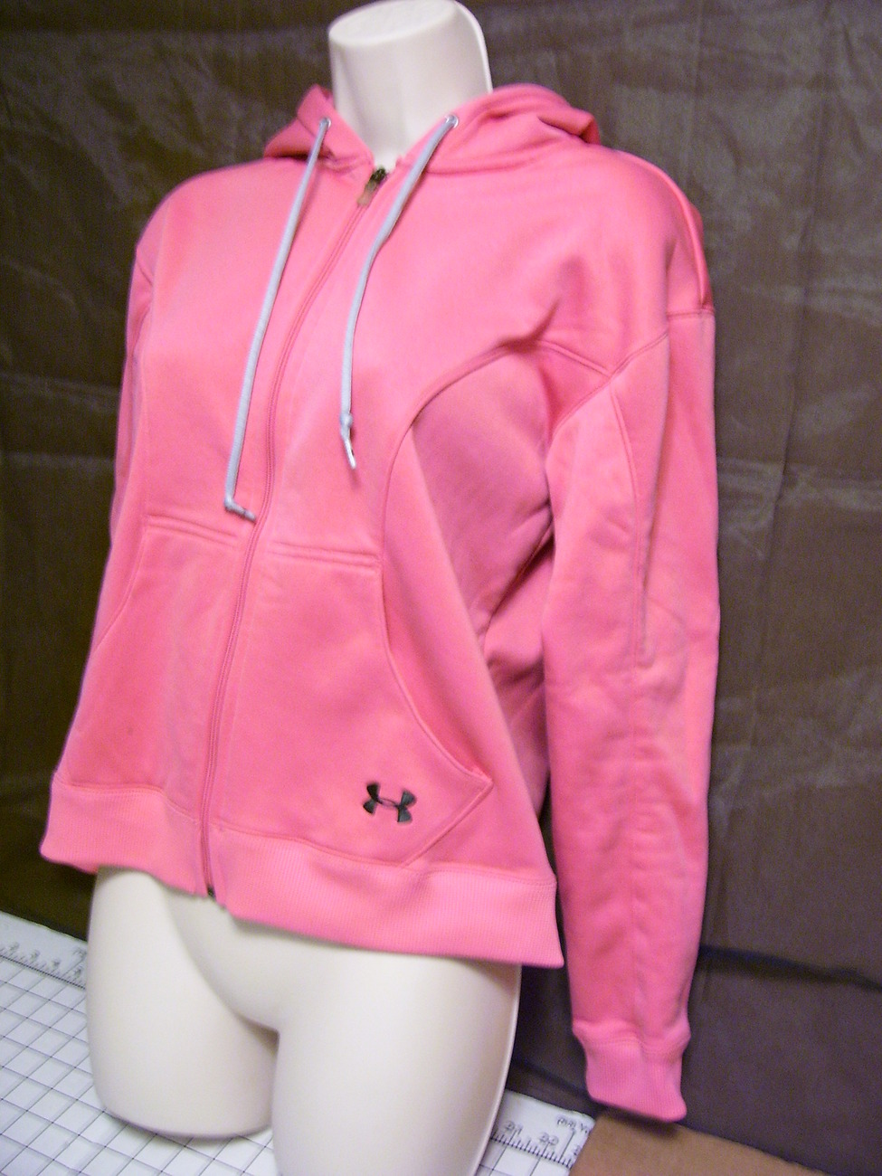 Under Armour Full Zip Hoodie Womens XS Light  Peach Coral Pink  Exc Warm