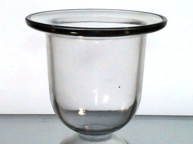 Hanging candle holder flat wide rim 4 58 x 5 58 lg heavy 002 for Flat candle holders