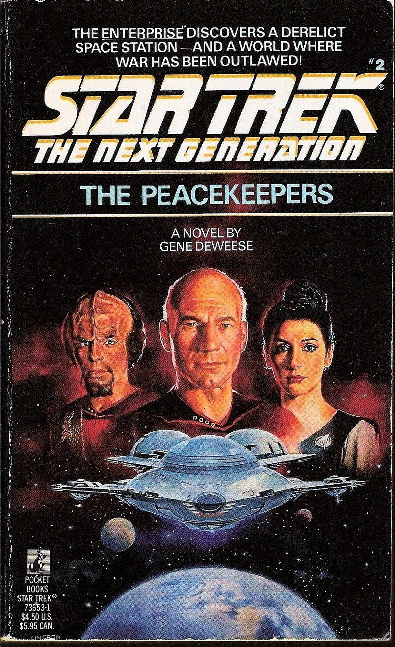 Image 0 of The Peacekeepers Star Trek TNG book 2 by Gene Deweese 1988