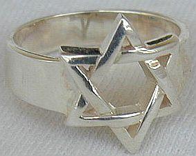 Buy silver star david ring a1 at AtomicMall.com