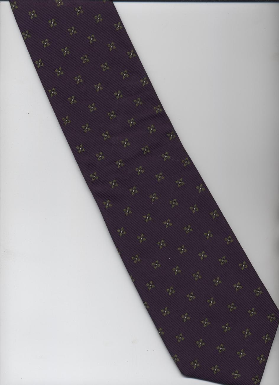 lands end tie purple gray polka dots pattern silk