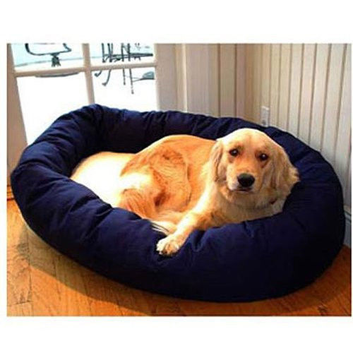 NEW Majestic Pet 40-Inch Sherpa Bagel Bed for Pets Dogs Blue