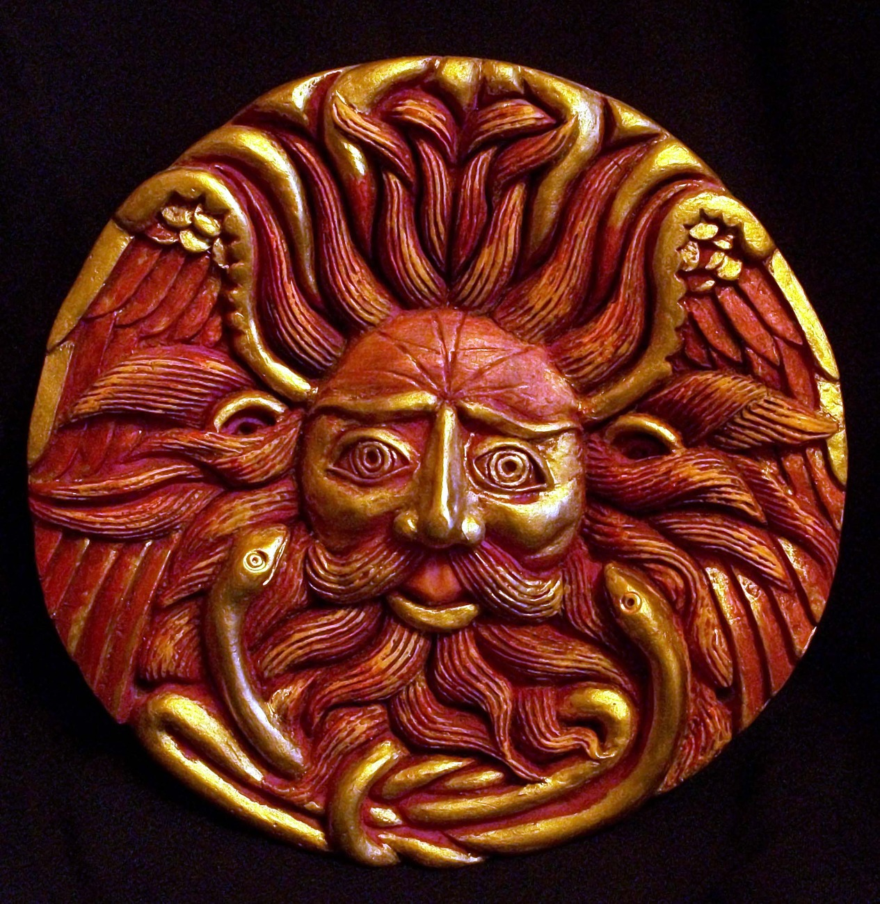 Sun God, Belenos / Elemental Wall Plaque by and 12 similar items