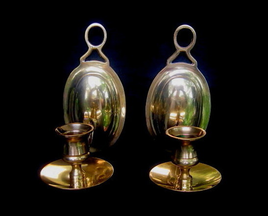 Colonial Style Brass Wall Sconce Yield House Set of 2 - Candle Holders & Accessories
