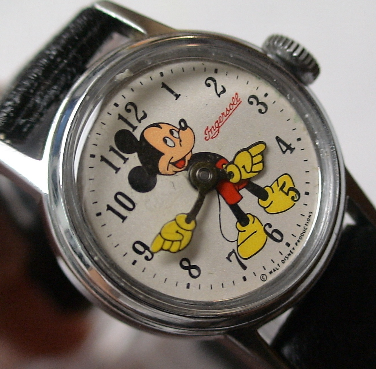 1960's Ingersoll Mickey Mouse Silver Watch - Mint