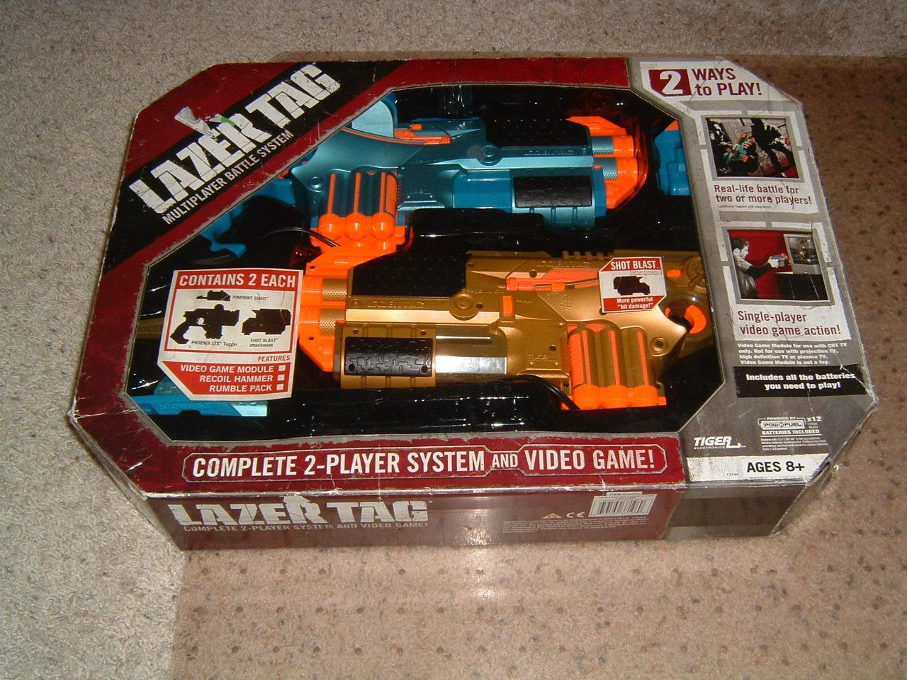 1 Tiger Electronics Hasbro Set Of 2 Laser Lazer Tag Guns