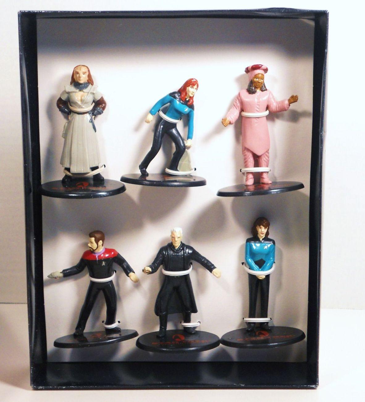 Star Trek Generations 6 figure box gift set Applause 1994