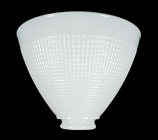 8quot floor table lamp reflector shade milk white corning for Floor lamp reflector shade glass