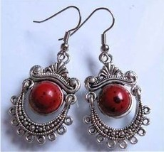 Tibet_silver_red_coral_pearl_earrings_thumb200