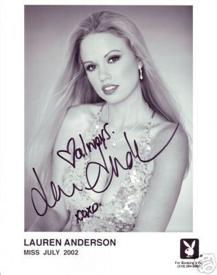 Lauren Anderson hand signed Playboy playmate promo photo
