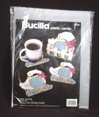 Geese Drink Coasters Plastic Canvas Kit Bucilla 7 Piece Set