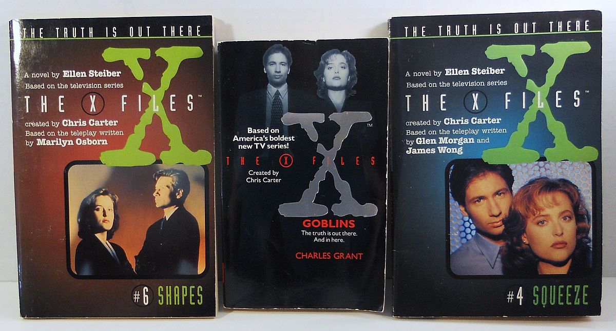 X-Files Goblins, #4 Squeeze, #6 Shapes 3 book lot Charles Grant