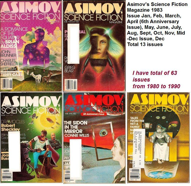 Image 2 of Isaac Asimov's Science Fiction Magazine April 1983 6th Annv Issue