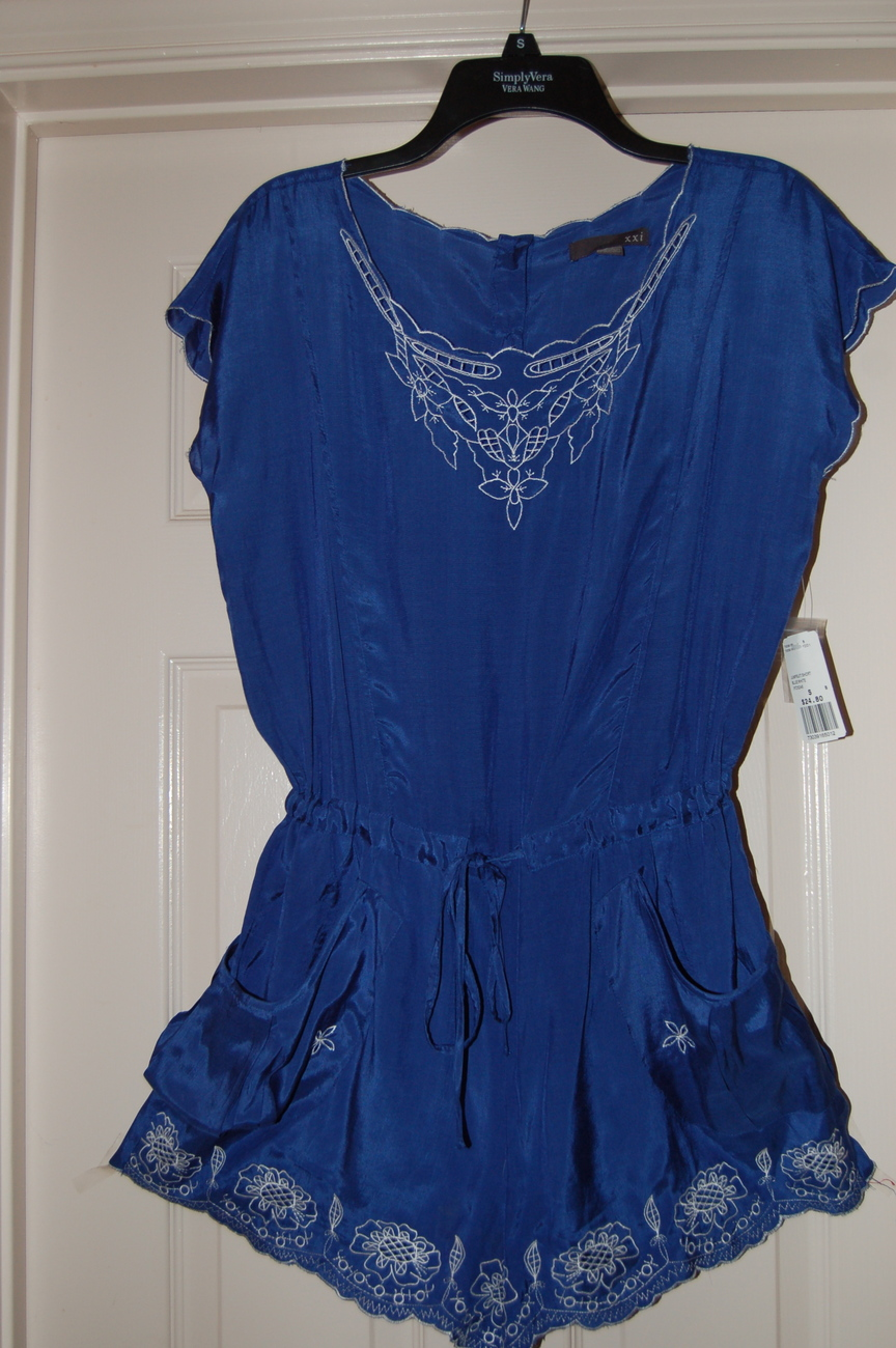 0a120976754 Forever 21 Romper Royal Blue Juniors Small NWT - Jumpsuits U0026 Rompers