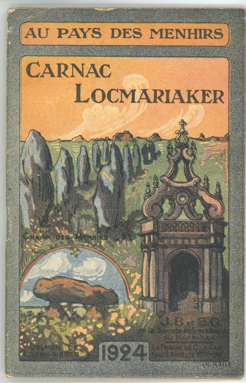 au pays des menhirs carnac locmariaker 1924 tourist booklet french arts crafts france. Black Bedroom Furniture Sets. Home Design Ideas