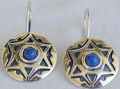 David Star blue earrings