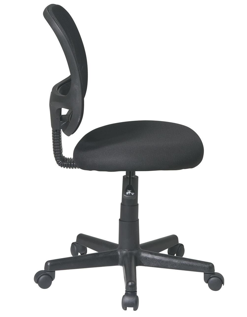 Screen Back Black Mesh Seat Swivel Task Desk Office Chair