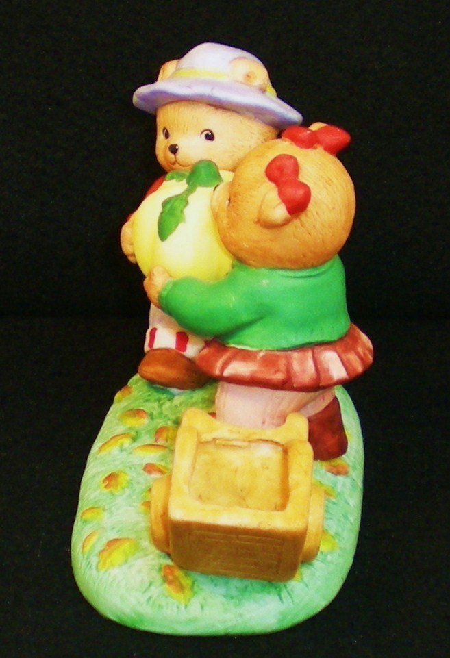 Image 2 of Calendar Bears October Harvest Bears Bronson Figurine 1990