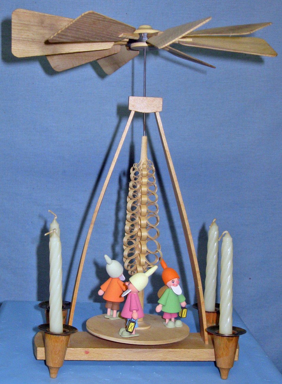 Christmas Wood Carousel - Made in E. Germany (c.1970)