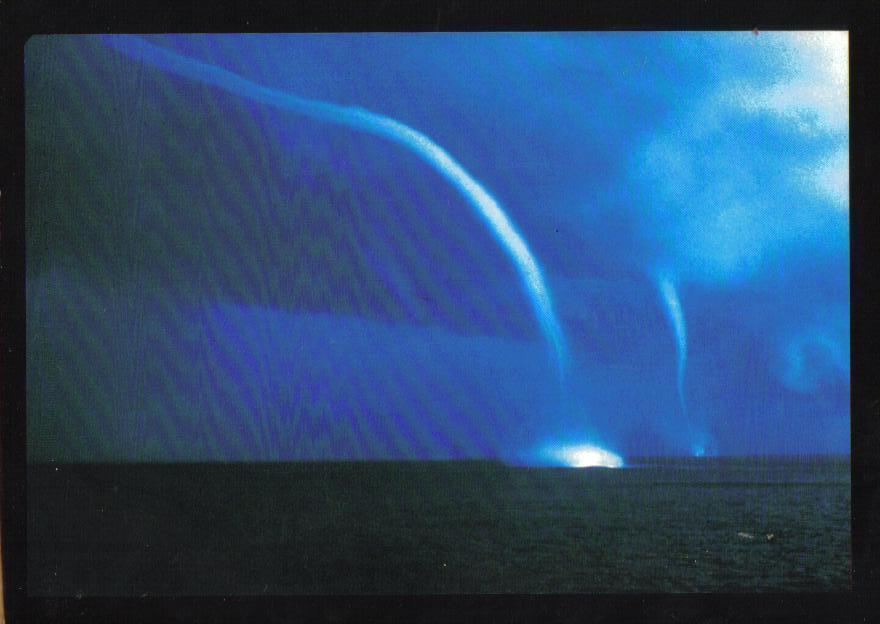 Waterspouts Weather Phenomenon Postcard Uncirculated