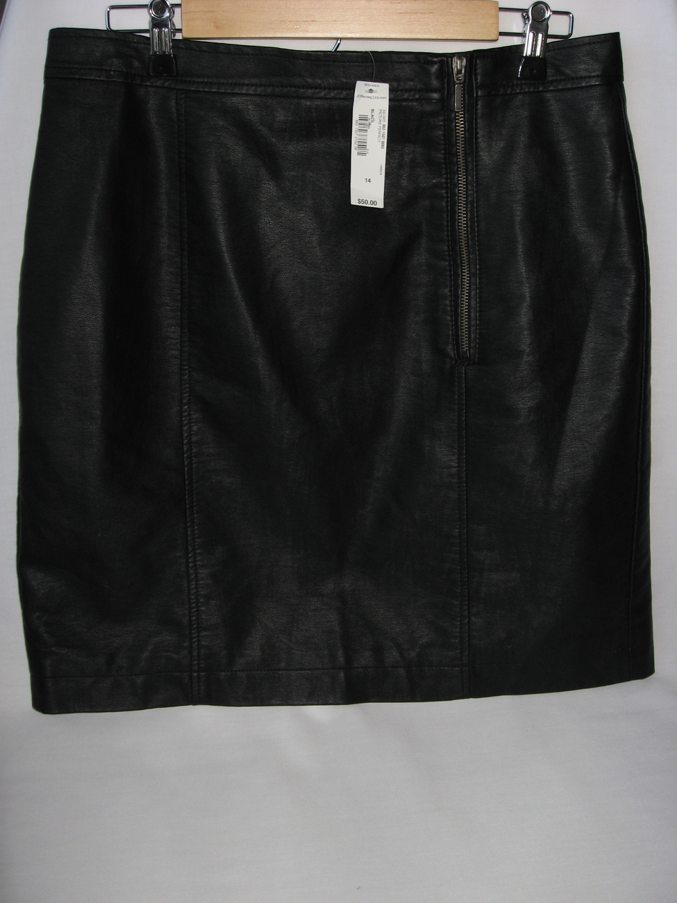 faux leather skirt black size 14 womens nwt i ronson