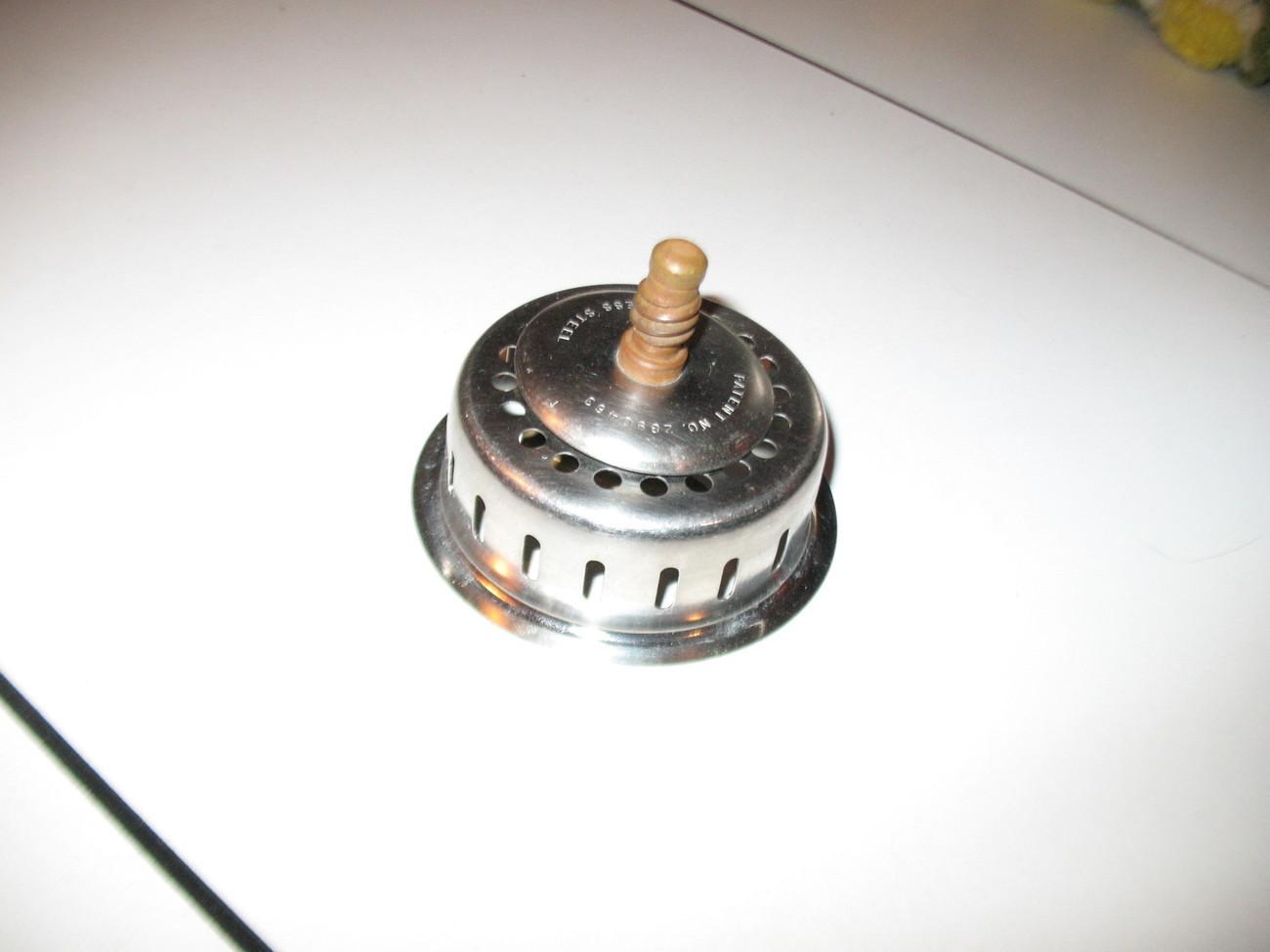 Industrial Sink Drain : Stainless Steel Drain plug basket strainer Industrial sink