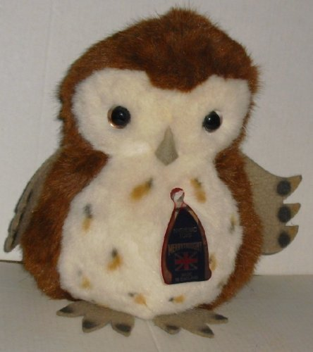 Vtg MERRYTHOUGHT made in England Plush OWL w/ hang tag