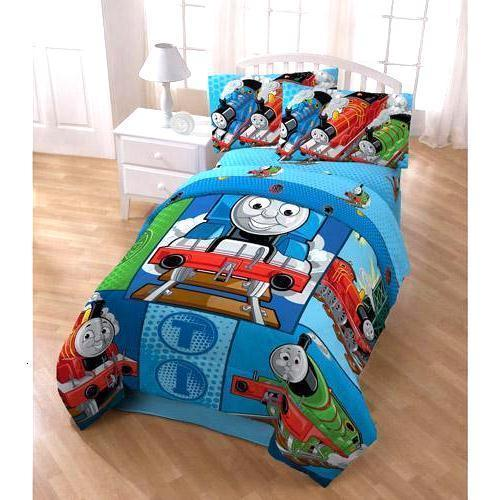 Thomas The Tank Engine 4-Piece Twin Bed Set Comforter