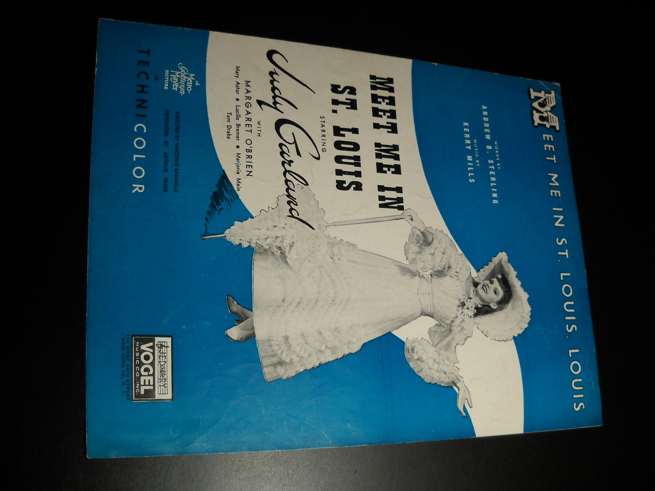 Sheet Music Meet Me In St Louis Louis Judy Garland 1935 MGM Andrew B Sterling