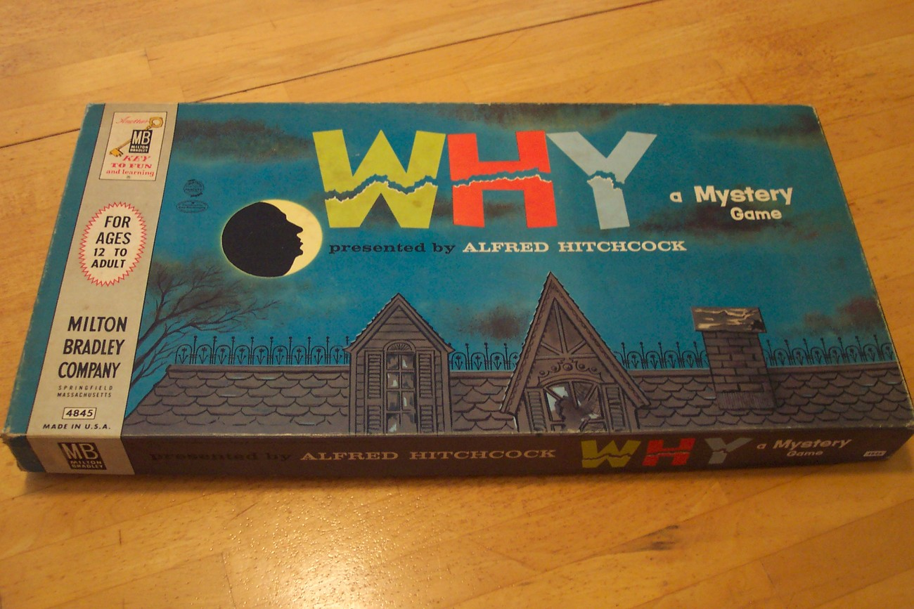 "PRICE REDUCED! 1961 ""WHY"" a Mystery Board Game"