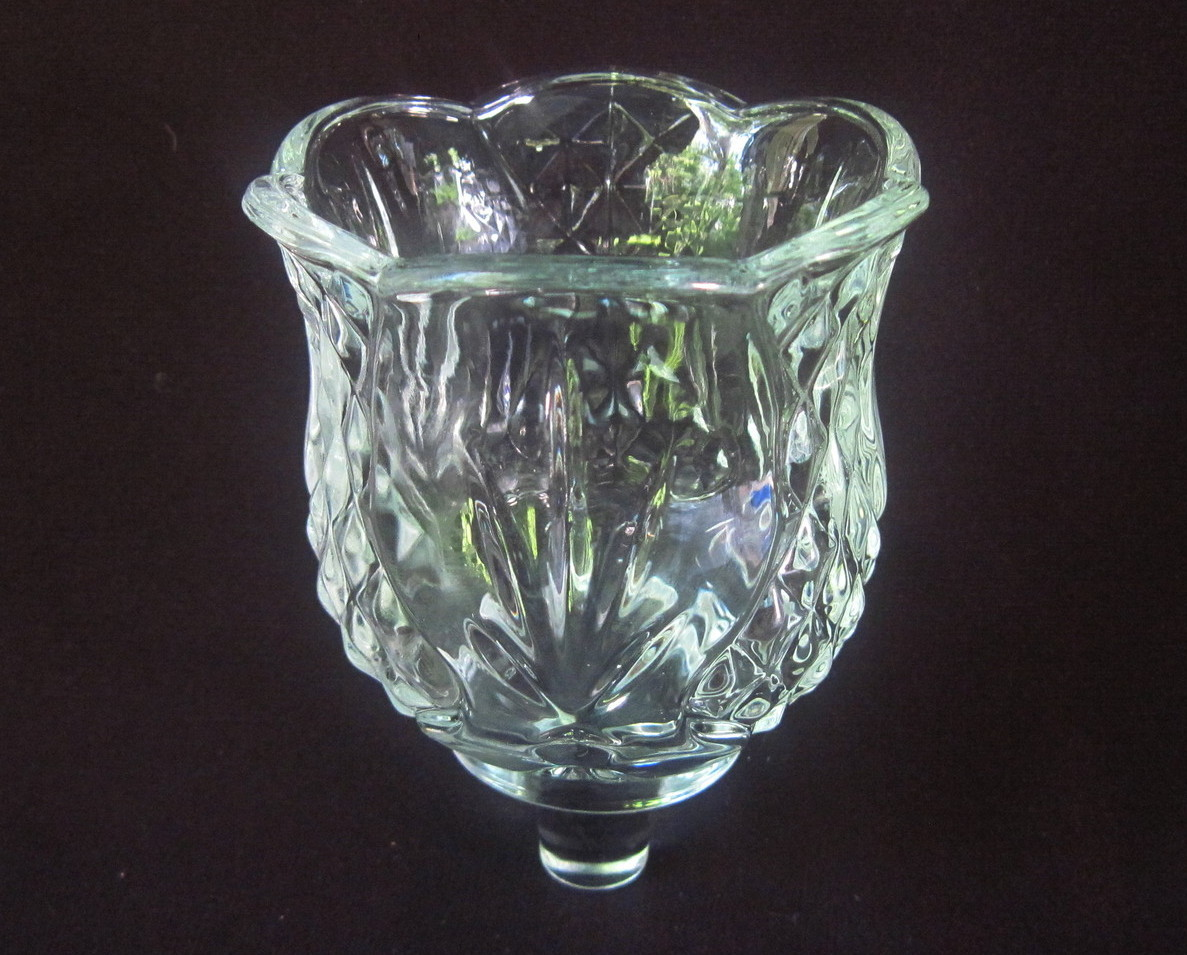 Home Interiors Pegged Votive Candle Holder Elegant Clear